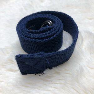 Polo By Ralph Lauren Navy Blue Cloth Belt Size 18M